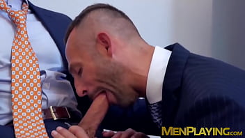 Classy office manager stuffs business partner with big cock