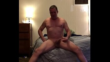 Dad/mature spy cam undressing after work-stroking big cock-adam longrod