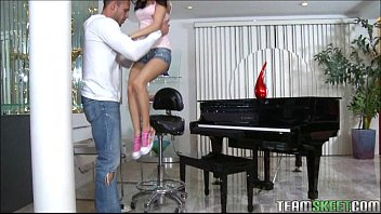 Tiny Teen Piano Player Plays A Huge Cock | Video Make Love