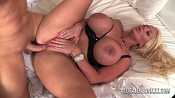 Cock he her his impaled pussy Big tit milf alura jenson has her tight pussy impaled