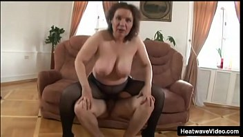 Mature woman young lad Mature mom with saggy tits gets satisfied by a younger lad