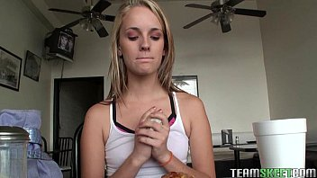 An interview with this slender chick Sara Jaymes while working out