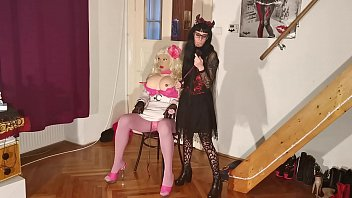 Goth teen abuse & straponfuck her huge real barbi fuck doll pt2 HD