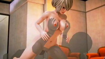 3D Cartoon sex  - Big cock is pounding young sexy blond with passion -  - 3D Cartoon sex