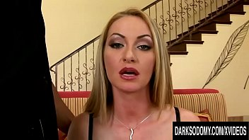 Adventurous Blonde MILF Takes a Long Black Dick in Her Mouth and Anus