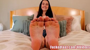 Cutie Brittany Shae Strokes My Cock with Her Feet! FuckedFeet