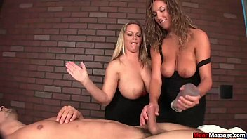 meanmassage-Two bossy ladies tag-team a poor young man  #67033