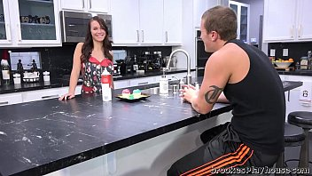 Brooke Gets Her Pussy Eaten In The Kitchen