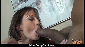 Big tits bounce on a black cock and mom joins in! 19