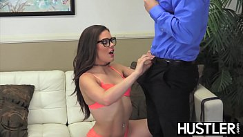 Hustler part 602585 Kimber woods got hot jizz all over her face and glasses