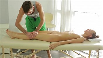 Young Russian girl Sabrina Moor gets fucked to the extreme during massage