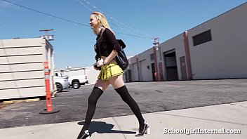 Hot Schoolgirl Gets Pissed When He Cums Inside Her!