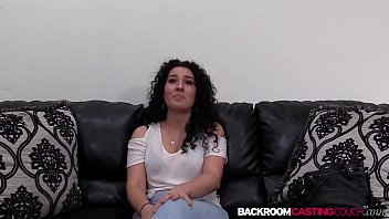 Curly haired Hollie fed jizz after 1st banging casting