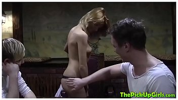 Russian Babe Picked Up and Fucked by Two Men