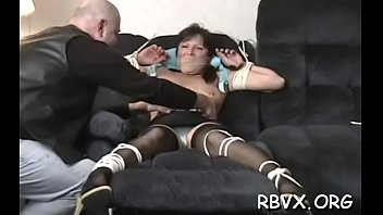 Hot blindfolded youngster experiences 1st thraldom punishment 5 min