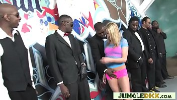 Young Aiden Aspen In Interracial Gangbang