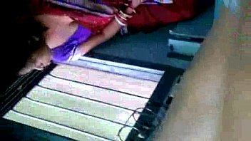 Hot Bengali Aunty Exposing Boobs Through Black Bra In Train