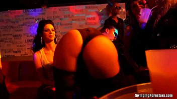 Slutty party chicks fucking in a club thumbnail