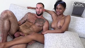 Italians Do It BEST! Hairy JACKED Tan Italian Meathead From Jersey Shore Pounds Out SUPER Hot Black College Chick. HOT, Hard, Ebony Interracial Fucking At It's Finest