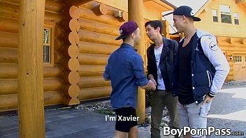 Jake is distracted by the sight of the horny twink Xavier