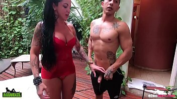 Elisa Sanches prepares to give without a condom to a fan turned actor - Hector Vanille - Binho Ted