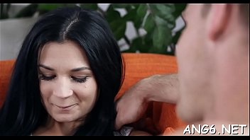 Striking babe Albina C blows penis gets ready for fuck