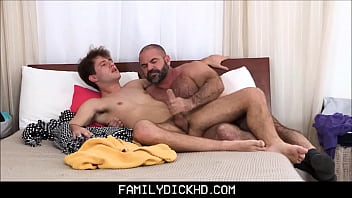 Dads fuking twinks porn Bear step dad catches his son masturbating then teaches