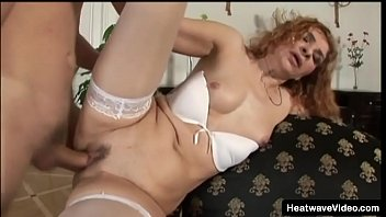 Mature women lingerie fucked videos Older redhead mature woman getting fucked by her son friend