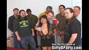 Wife undressed and gangbanged Susies gang bang bukkake party with dirty d