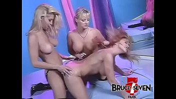 BRUCE SEVEN - Three Kinky Blondes Fuck With Strapon