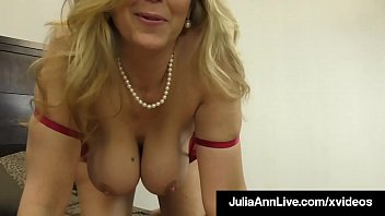 Milf Julia Ann Uses Her Hands, Big Tits & Feet To Milk Cock!
