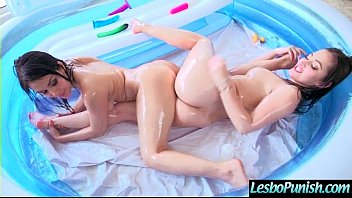 Sex Dildo Toys In Punish Sex Act Used By Cute Teen Lesbo Girls (dani&valentina) video-17