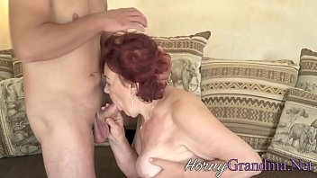 Chubby grandmother blows double penetration college