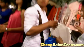 Picking up and getting blowjob from Cambodian girl -