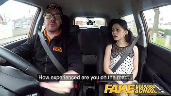 Teen curfews for driving Fake driving school rough back seat fuck for petite infatuated learner