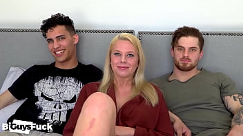 Marc And Marie Bust Dustins Bi-Sexual Cherry in His First Ever BiGuysFuck Scene!