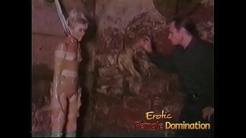 Totally helpless blonde dominated and humiliated in a moldy basement