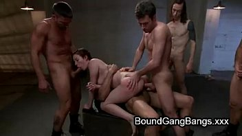 Tied and gang banged