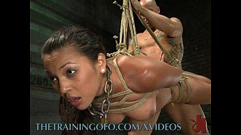 Tied up for sex video Slave has to earn her orgasms