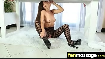 Gorgeous masseuse explores the body of a sexy lesbian beauty 7