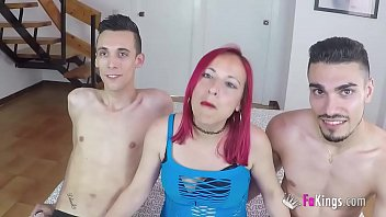 Redhead Tania wants TWO DICKS INSIDE HER PUSSY!!! She accepted the challenge