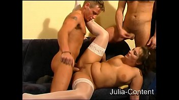 Three men fucked a housewife