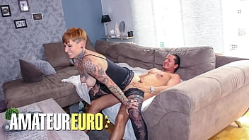 REIFE SWINGER - Lady Kinky Cat - Inked MILF Rides Cock After Work