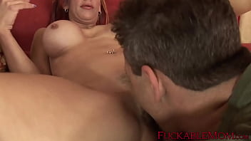 Busty redhead mature lady Shannon Kelly rides big cock