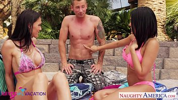 Jennifer coolidges tits - Wives jennifer dark and luna star share cock in vacation