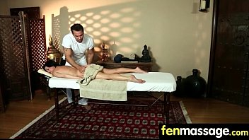 Sexy babe is massaged and fucked by her masseur 6