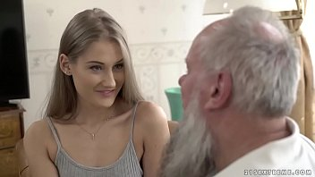 Teen beauty vs  old grandpa Tiffany Tatum and  fany Tatum and Albert