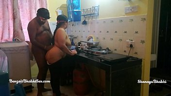 indian son her bengali step mom fucking in the kitchen role play