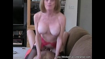 Bikini temptation wicked Son puts creampie inside mommy