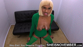 Aww!!! Step Dad  :-( That Hurts Stop Spanking My Huge Saggy Udders Your Hurting My Nipples, Bratty Black Daughter Inlaw Msnovember Punished BDSM Style on Sheisnovember 4k